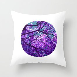 purple tree II Throw Pillow