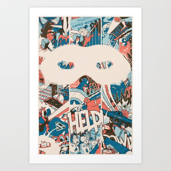 Save us. Art Print