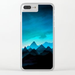 Night Storm In The Mountains Clear iPhone Case