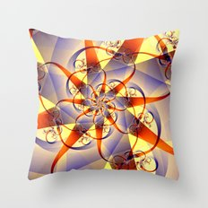 Ribbon and Swirl Throw Pillow