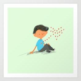 Boy in Love Art Print