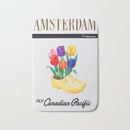 Amsterdam - Vintage Canadian Pacific Travel Poster Bath Mat