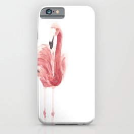 Flamingo, Watercolour, African Animal Set iPhone Case