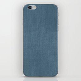 Blue Indigo Denim iPhone Skin