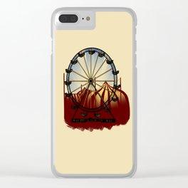 Old School Carnival Ferris Wheel Clear iPhone Case