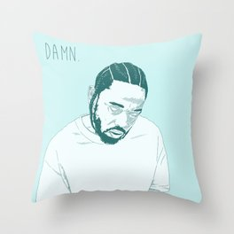 Damn. Kung Fu Kenny Throw Pillow