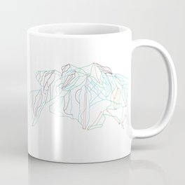 Big White, BC, Canada - Minimalist Trail Art Coffee Mug