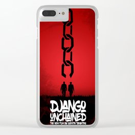 Django Unchained - Minimal Movie Poster. A Film by Quentin Tarantino. Clear iPhone Case