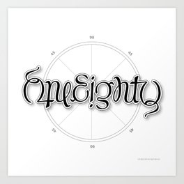 OneEighty Art Print