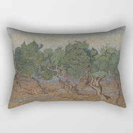 Olive grove Rectangular Pillow