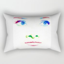 Audrey in Color Rectangular Pillow