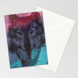 the wolf 7 Stationery Cards