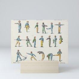 Room gymnastics - Vintage Chart Mini Art Print