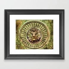 Mausoleum Lion Framed Art Print
