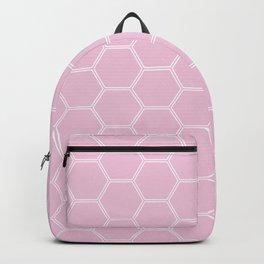 Honeycomb Light Pink #326 Backpack