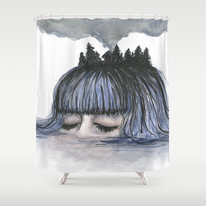 Cloudy Mind Shower Curtain