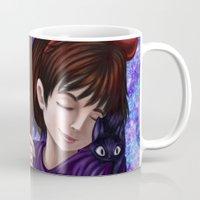 kiki Mugs featuring Kiki and Jiji by Kimberly Castello