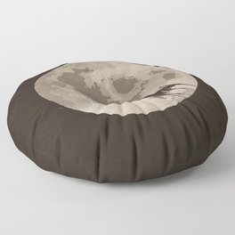 Around the Moon Floor Pillow