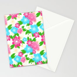 04 Pattern of Watercolor Flowers Stationery Cards