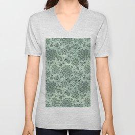 queen anne's lace pattern Unisex V-Neck