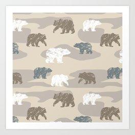 Bearish camouflage Art Print