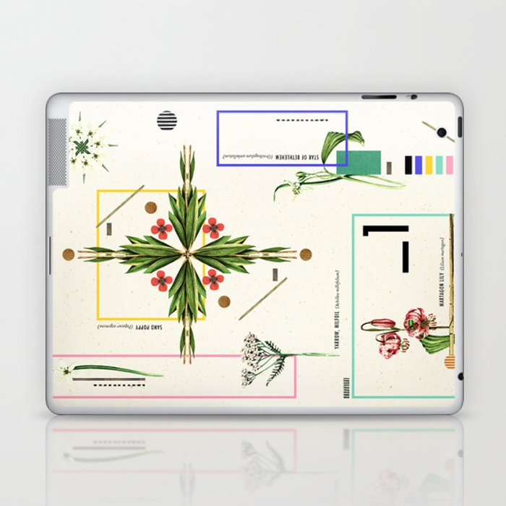 Wild Flowers_1 Laptop & iPad Skin