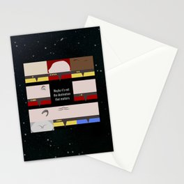 Maybe it's not the Destination that matters - square - Star Trek: Voyager VOY  trektangle minimalist Stationery Cards