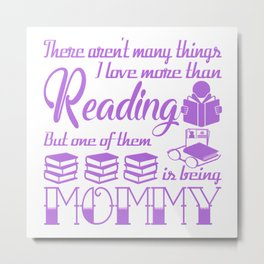 Reading Mommy Metal Print