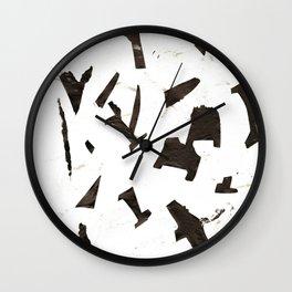 Rock N' Ice Print Wall Clock