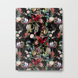 Floral and Birds IX Metal Print