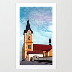 The village church of Herzogsdorf I | architectural photography Art Print