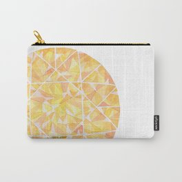 Yellow Round Gem Carry-All Pouch