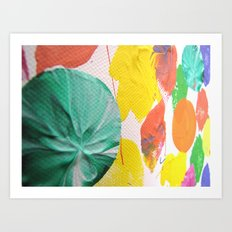 Acryl colored dots Art Print