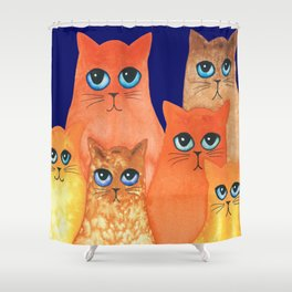 Annapolis Whimsical Cats Shower Curtain