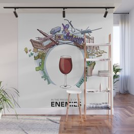 In The Presence of Thy Enemies (no printed signature) Wall Mural