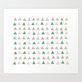 Bouncy Triangles // Pattern Art Art Print