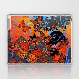 Stormy Weather Purple Monarch  Butterflies Charcoal Surrealism Laptop & iPad Skin