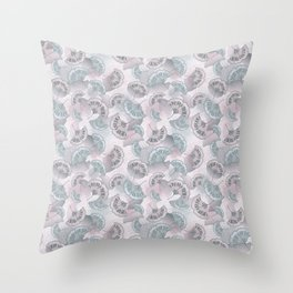 Whimsical Leaf Pattern Throw Pillow