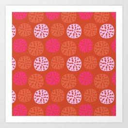 ensenada, mid-century inspired pattern Art Print