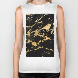 Black Marble Gold Glam #2 #decor #art #society6 Biker Tank