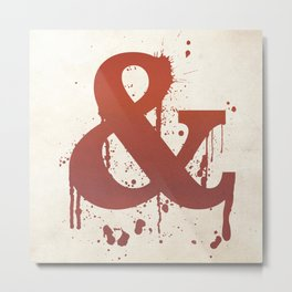 Ampersand. So CUTE! Metal Print