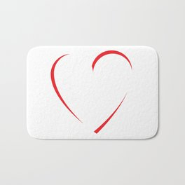 Rotated Heart Bath Mat