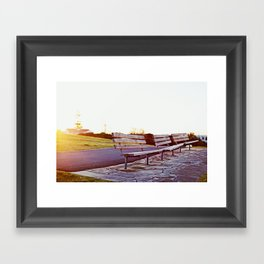 lonely benches Framed Art Print