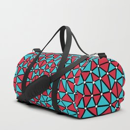 African Triangles Red and Blue Duffle Bag