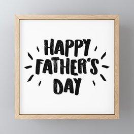 Happy Father's Day - Fun Bold Text Framed Mini Art Print