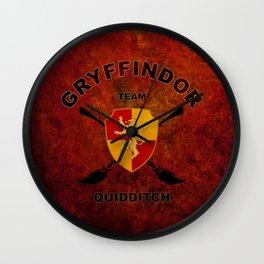 Gryffindor Quidditch Team Wall Clock