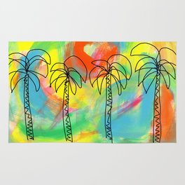 Palm Trees Wish You the Best Rug