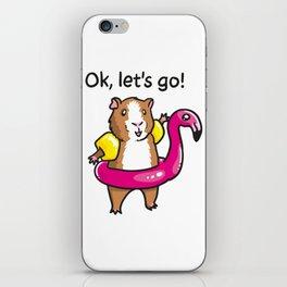 Guinea pig adflaig iPhone Skin