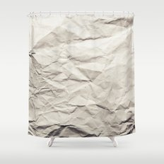 Crumpled Paper Shower Curtain