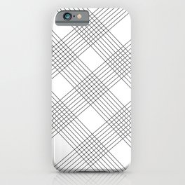 Crossing lines iPhone Case